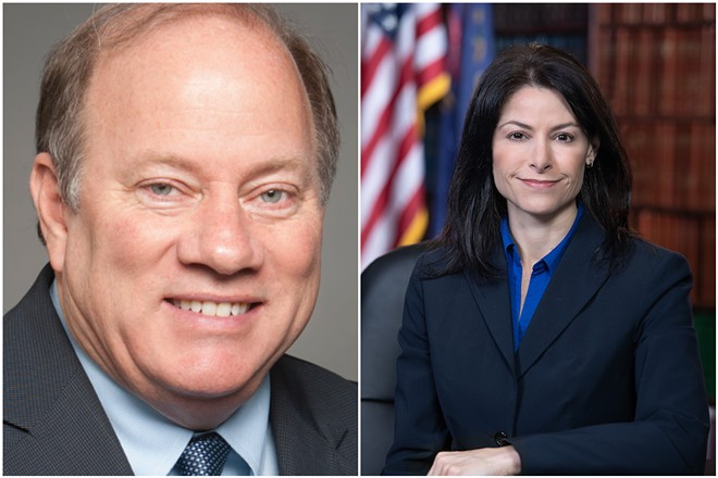 Detroit Mayor Mike Duggan and Michigan Attorney General Dana Nessel. - CITY OF DETROIT, ATTORNEY GENERAL'S OFFICE