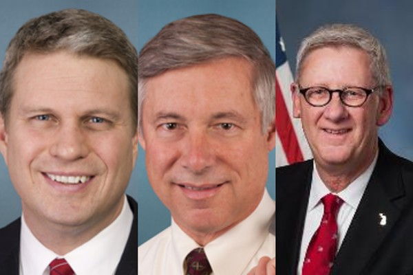 From left, Reps. Bill Huizenga, Fred Upton, and Paul Mitchell. - U.S. CONGRESS