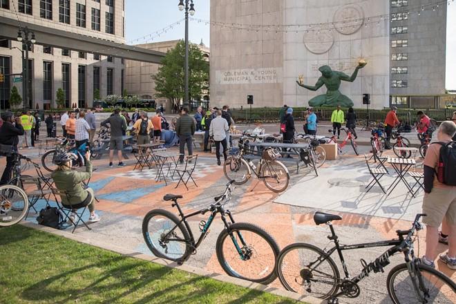 Spirit of Detroit Plaza. - CODY ROSS, DETROIT STOCK CITY