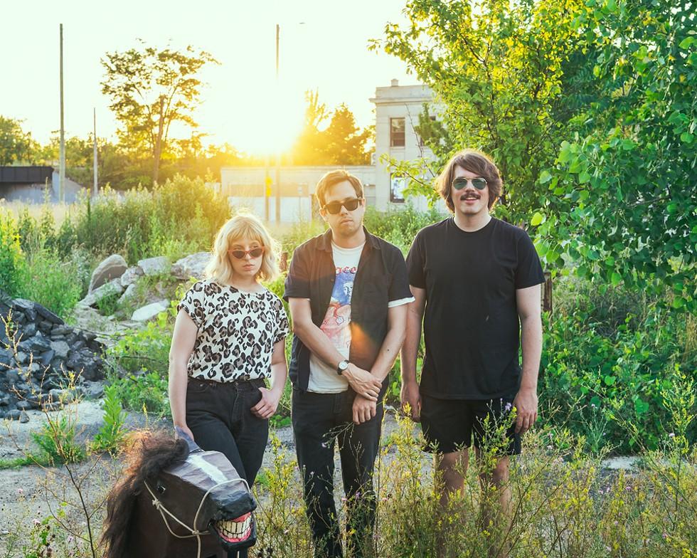 Deadbeat Beat, from left: Maria Nuccilli, Zak Frieling, and Alex Glendening. - NOAH ELLIOTT MORRISON