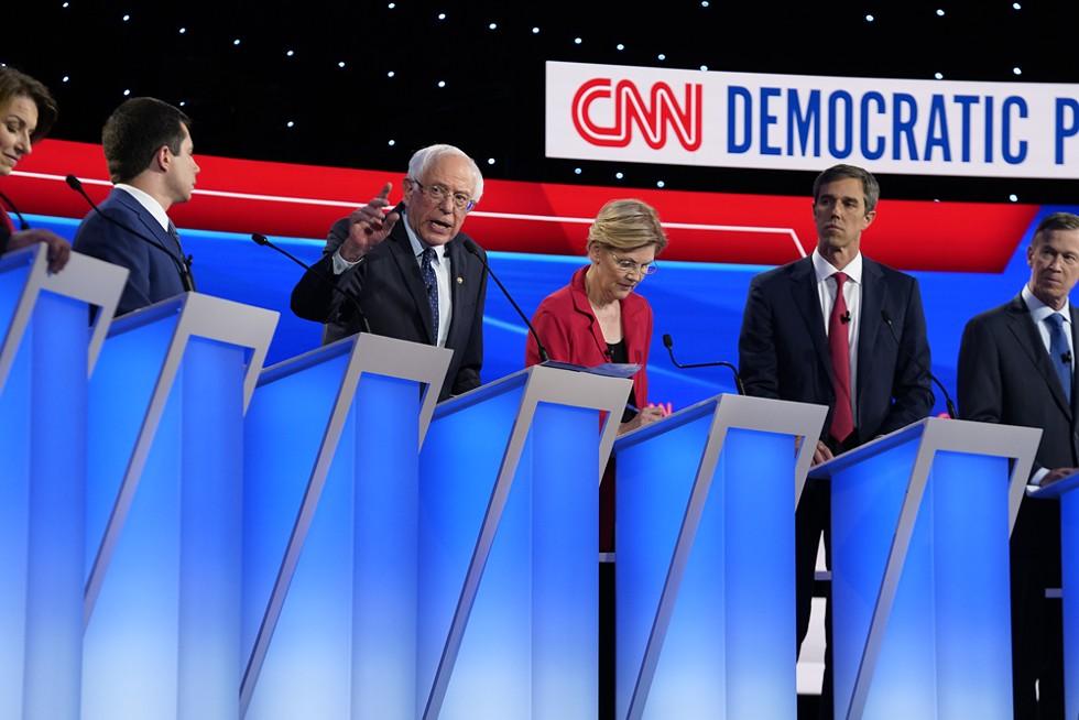 Sen. Bernie Sanders and Sen. Elizabeth Warren largely refused to follow CNN's script. - CNN