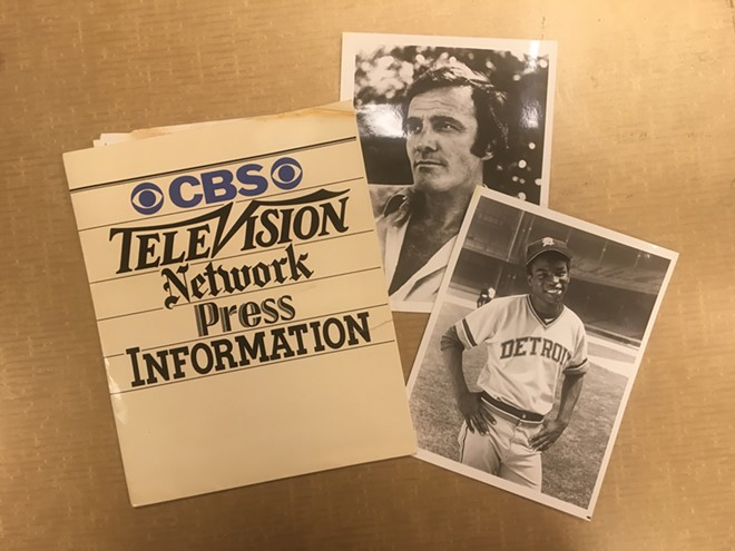The original 1978 CBS press  kit for One in a Million:The Ron LeFlore Story. - COURTESY OF DAVID JACKSON