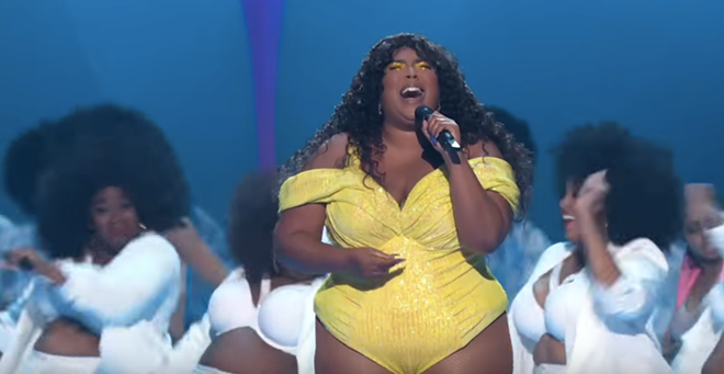Lizzo during her VMA performance Monday night. - SCREENGRAB/YOUTUBE