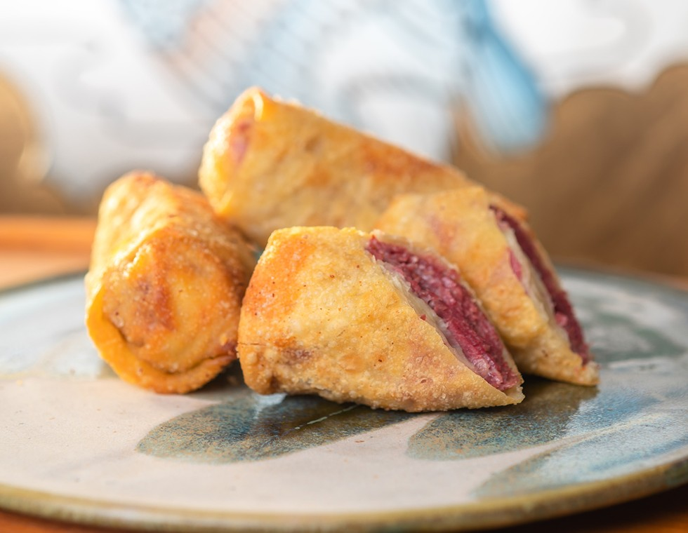 Crispy on the outside and gooey on the inside: Asian Corned Beef's corned beef egg rolls. - NOAH ELLIOTT MORRISON
