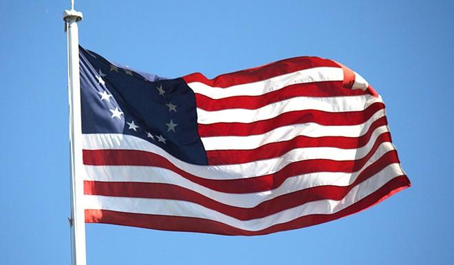 "A ""Betsy Ross"" flag. - MAKARISTOS, WIKIMEDIA CREATIVE COMMONS"