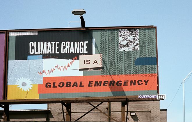Ellen Rutt's billboard displayed as part of this year's Detroit Art Week. - ELLEN RUTT