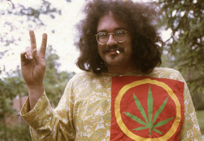John Sinclair in Ann Arbor in 1968. - LENI SINLCLAIR