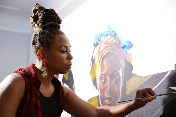 Sydney James at work in her studio. - BREANN WHITE