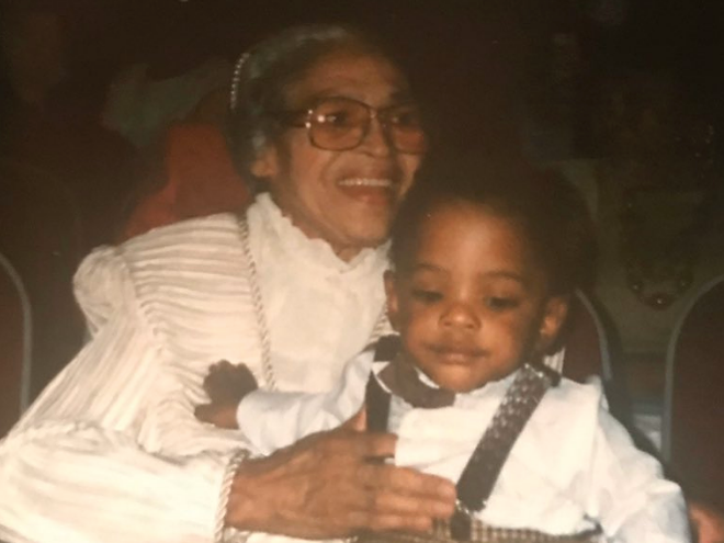 Rosa Parks with young Cosey. - COURTESY OF CHANDLER COSEY