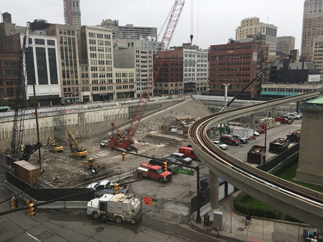 Construction at the Hudson's site project. - LEE DEVITO