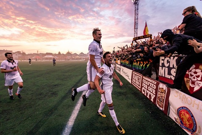 Detroit City Football Club playing at Keyworth Stadium. - DION DEGENNARO