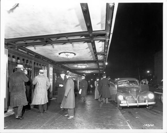 Music Hall's original canopy, photo circa mid-late 1950s. - COURTESY PHOTO