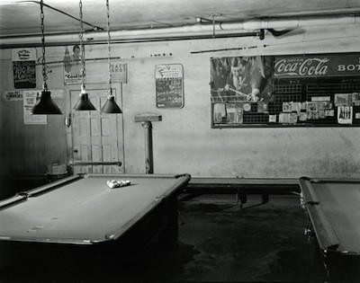 The eerie interior of Hupp Billiards, June 15, 1981. - BRUCE HARKNESS