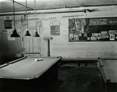 The eerie interior of Hupp Billiards, June 15, 1981. - BRUCE HARKNESS