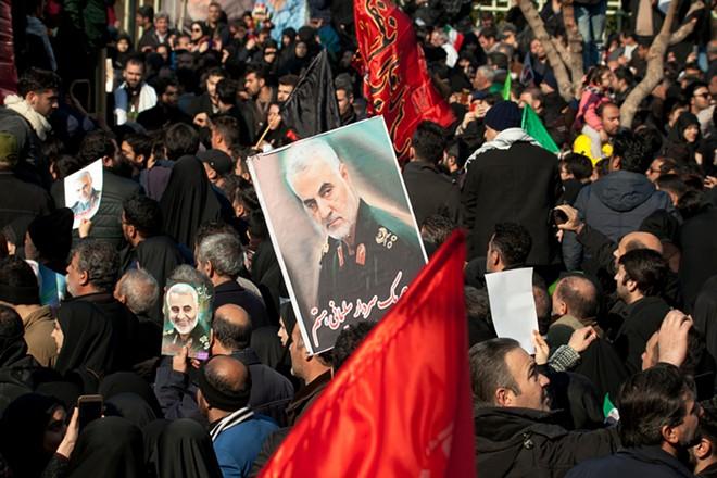 Photo from the funeral of Qassem Soleimani in Tehran. - SHUTTERSTOCK.COM