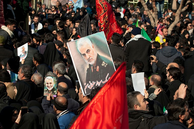 Photo from the funeral of Qassem Soleimani in Tehran. - SHUTTERSTOCK.COM