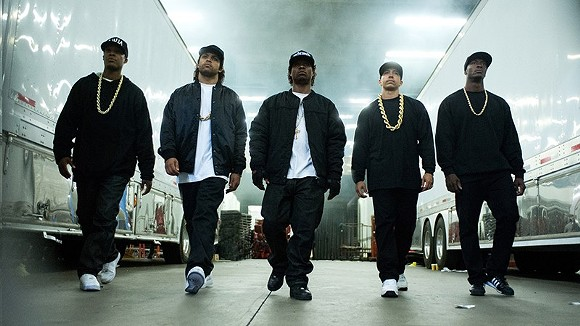 The actors playing N.W.A in Straight Outta Compton. - COURTESY PHOTO