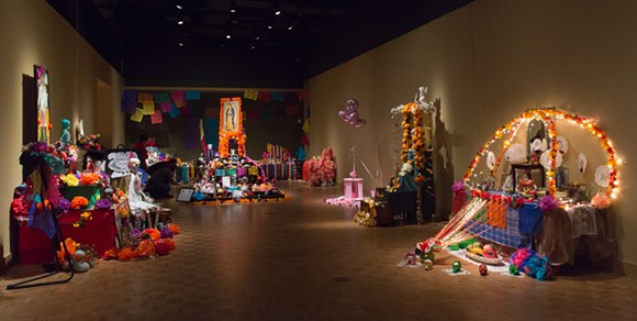 Ofrendas from the DIA's 2014 exhibit - COURTESY PHOTOS