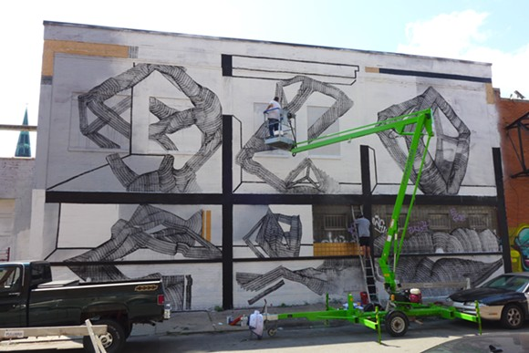 Earlier this summer, Italian artist 2501 painted a new mural on Winder Street near the Red Bull house of Art in Detroit's Eastern Market district. The district will host the inaugural Murals in the Market festival. - COURTESY PHOTO