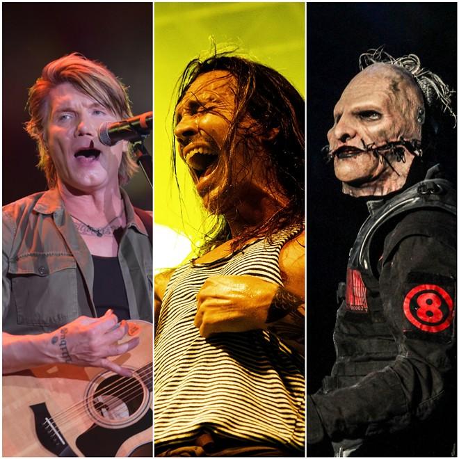 Goo Goo Dolls, Incubus, and Slipknot. - PHOTOCARIOCA, CHRISTIAN BERTRAND, ANDRE LUIZ MOREIRA/SHUTTERSTOCK.COM
