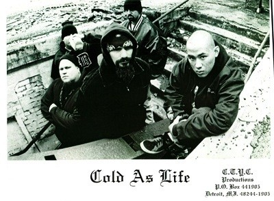 """Publicity still for Cold As Life from the 1990s. - PHOTO BY BOB ALFRED, COURTESY MIKE """"THE GOOK"""" COULS, COLD AS LIFE"""