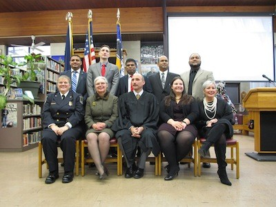 Hamtramck officials pose for a photo.