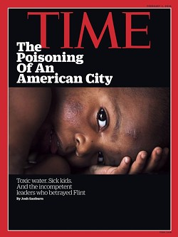 This week, Flint even made the cover of Time. - TIME MAGAZINE