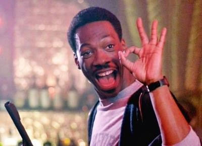 "Hell, no, that's not Gil Hill. It's Eddie Murphy. But would you have clicked on it if it were Gil Hill? (Still from ""Beverly Hills Cop,"" 1984, Paramount Pictures)"