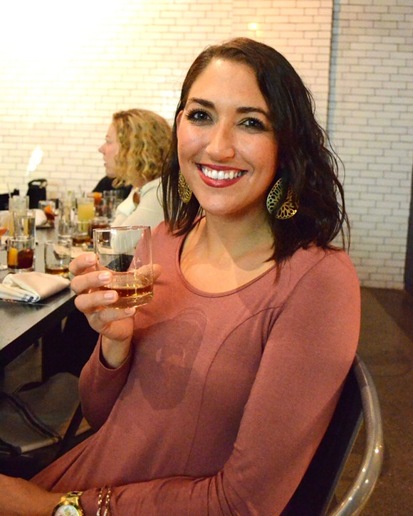 Ashley Hoofman, of Jack Daniels owner Brown-Forman Corp., at Selden Standard on Wednesday. - PHOTO BY DUSTIN BLITCHOK