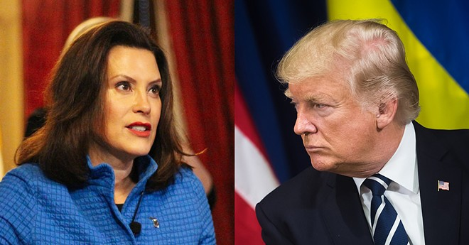 Gov. Gretchen Whitmer and President Trump sparred on Thursday over federal aid for Michigan. - TRUMP PHOTO VIA SHUTTERSTOCK