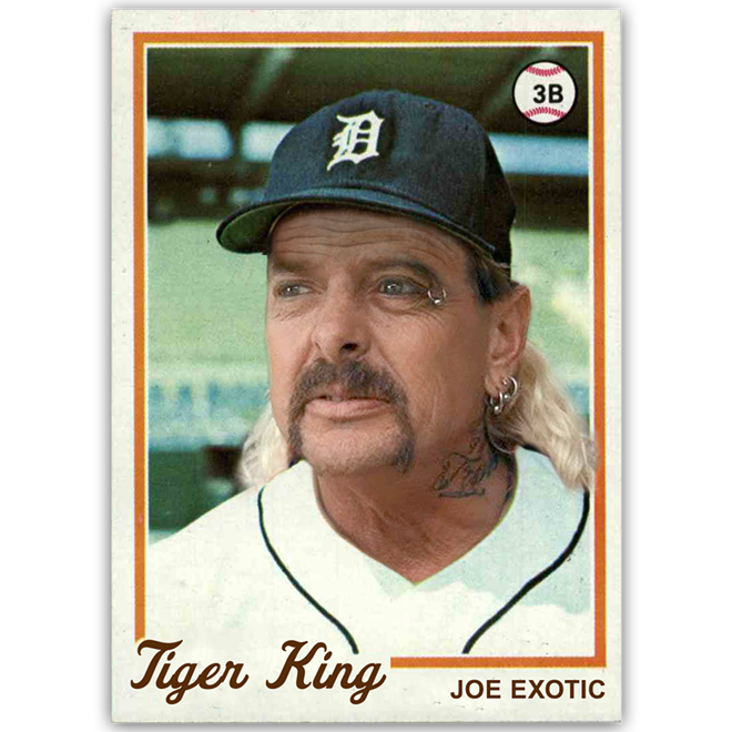 If 2020 had an MVP, Joe Exotic would be it. - COURTESY OF ANDREW KOZINSKI/@PFMEMESCHINABISTRO