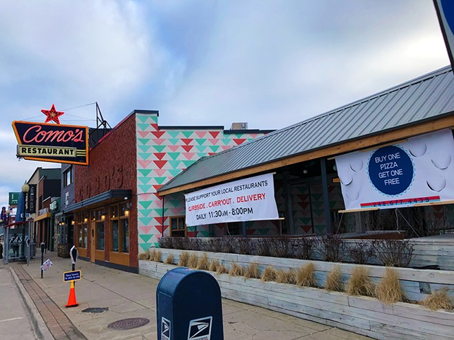Like many local businesses, Como's Restaurant in Ferndale has tweaked its business model to weather the coronavirus pandemic. - LEE DEVITO