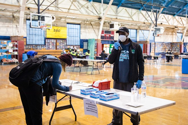 Coronavirus testing site at the former Michigan State Fairgrounds. - CITY OF DETROIT