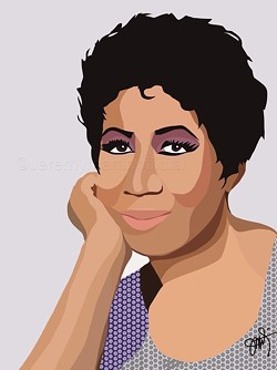 Aretha Franklin. - PHOTO VIA JEREMY MARTIN
