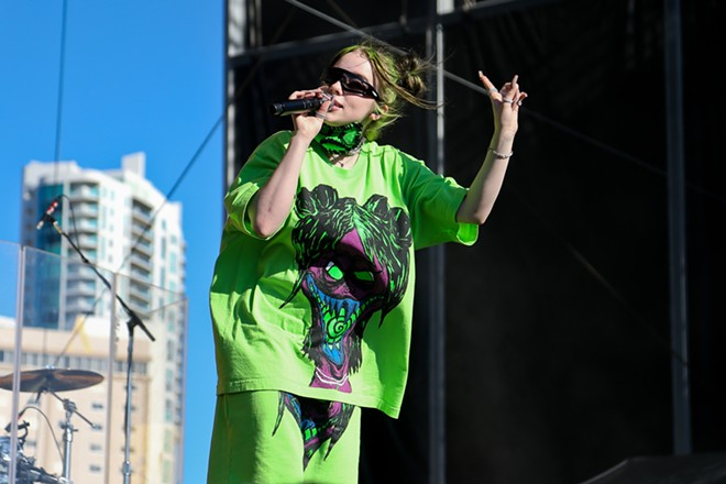 Billie Eilish's sold-out tour is among those outings postponed due to coronavirus concerns. - DEBBY WONG / SHUTTERSTOCK.COM