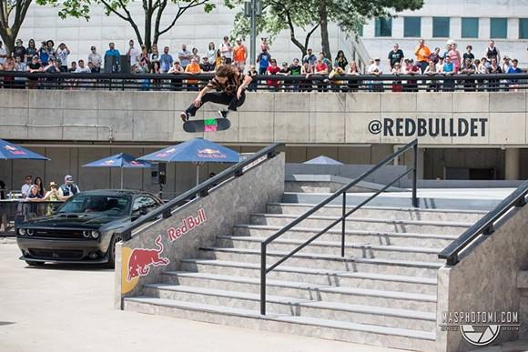 Evan Smith doing a kickflip at last years Hart Lines - PHOTO: MORGAN SOMERS
