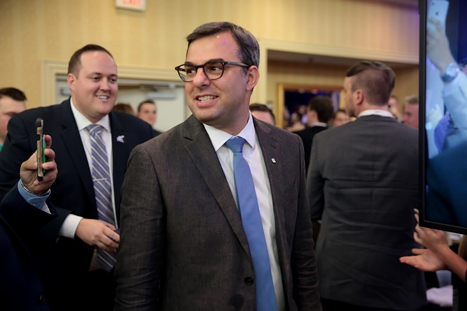 U.S. Rep. Justin Amash speaking with attendees at the 2017 Young Americans for Liberty National Convention. - GAGE SKIDMORE