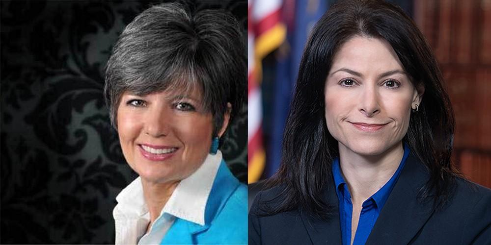 Longtime public relations guru Kelly Rossman-McKinney, left, is communications director for Attorney General Dana Nessel, right. - TWITTER