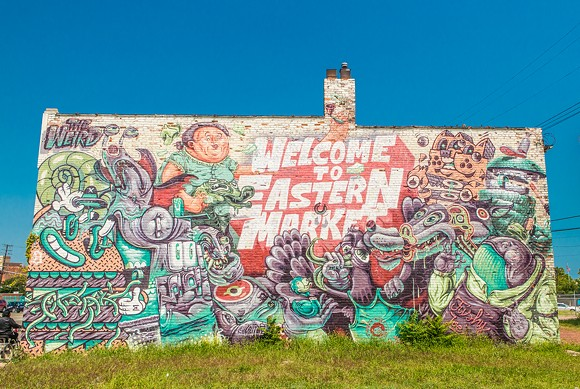 One of Eastern Market's many murals - EXT313 VIA WIKIMEDIA COMMONS