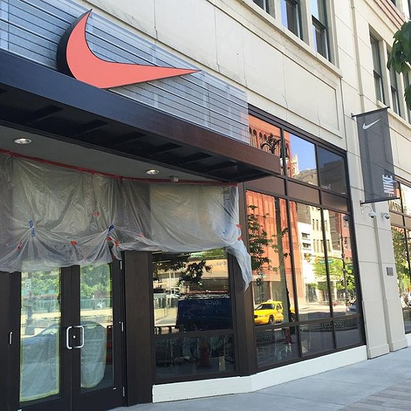 Facade of the Nike Detroit Community Store - KOLLINCURRIE VIA INSTAGRAM