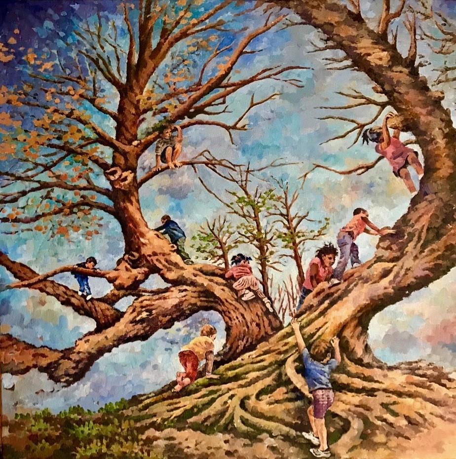 """Autumn Climbers,"" by  Nicole Macdonald.  - COURTESY OF THE ARTIST"
