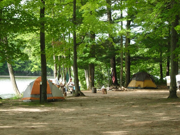 A CAMPSITE LOCATED ON THE HURON-MANISTEE NATIONAL FOREST   PHOTO: UNITED STATES DEPARTMENT OF AGRICULTURE FOREST SERVICE