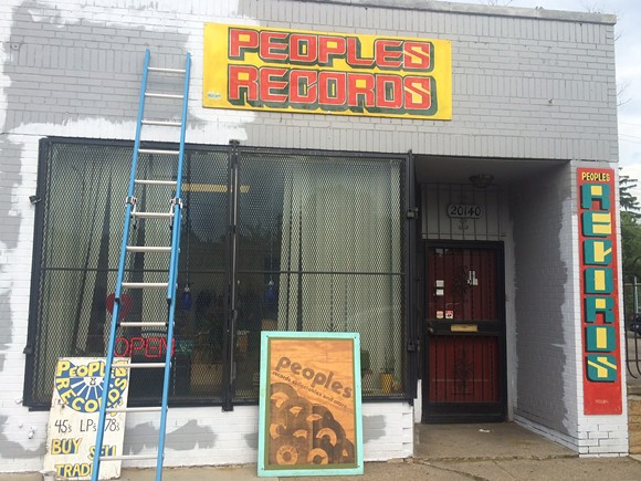The storefront takes shape: People's North on June 1. - PHOTO BY MIKE MCGONIGAL.