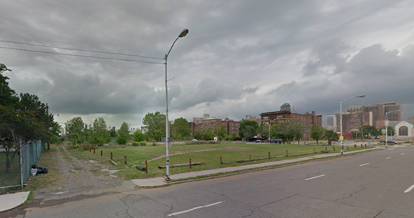 """Second Avenue between Ledyard and Henry streets: Smack in the heart of """"Cass Park Village."""" Do you see a neighborhood """"conceived with individuality and expression in mind""""? - GOOGLE STREET VIEW"""
