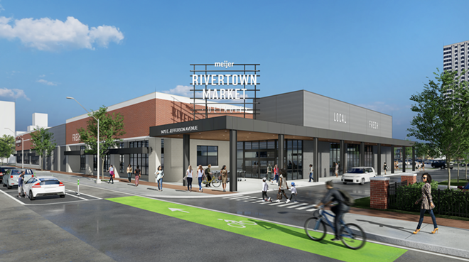 Rendering of The Rivertown Market on E. Jefferson Avenue in Detroit. - IGNITION MEDIA GROUP