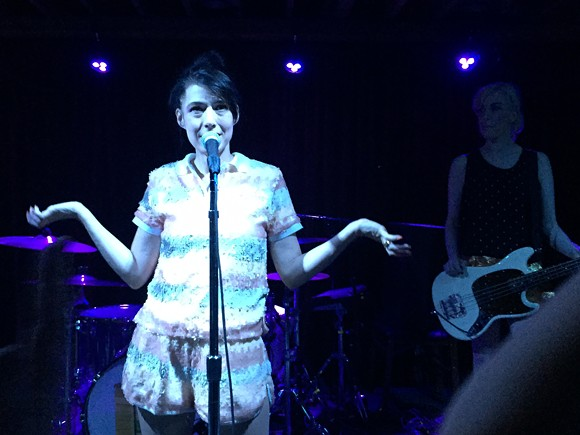 KATHLEEN HANNA FRONTING THE JULIE RUIN. PHOTO BY AMY OPREAN.