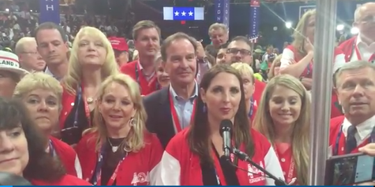MITT ROMNEY'S NIECE RONNA ROMNEY MCDANIEL FRONT AND CENTER. | STILL FROM FREEP VIDEO