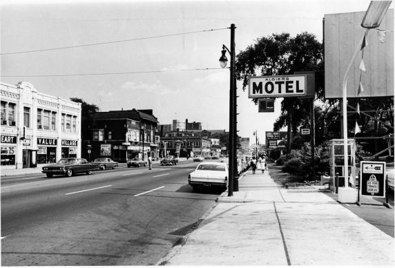 Algiers Motel, Woodward Ave, 1967 - WALTER P. REUTHER LIBRARY, ARCHIVES OF LABOR AND URBAN AFFAIRS, WAYNE STATE UNIVERSITY