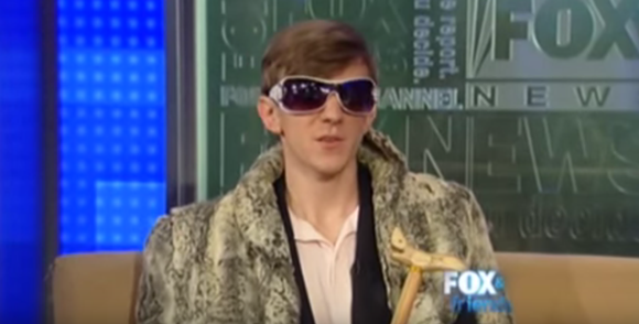 "JAMES O'KEEFE APPEARS ON ""FOX & FRIENDS"" DRESSED AS A ""PIMP."" 