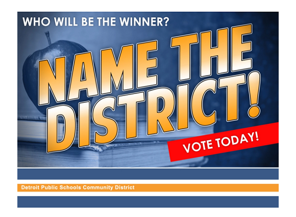 Cast your important vote for what this democracy-free school district will be called! - SCREEN CAPTURE FROM WEBPAGE AT 105.9 KISS-FM